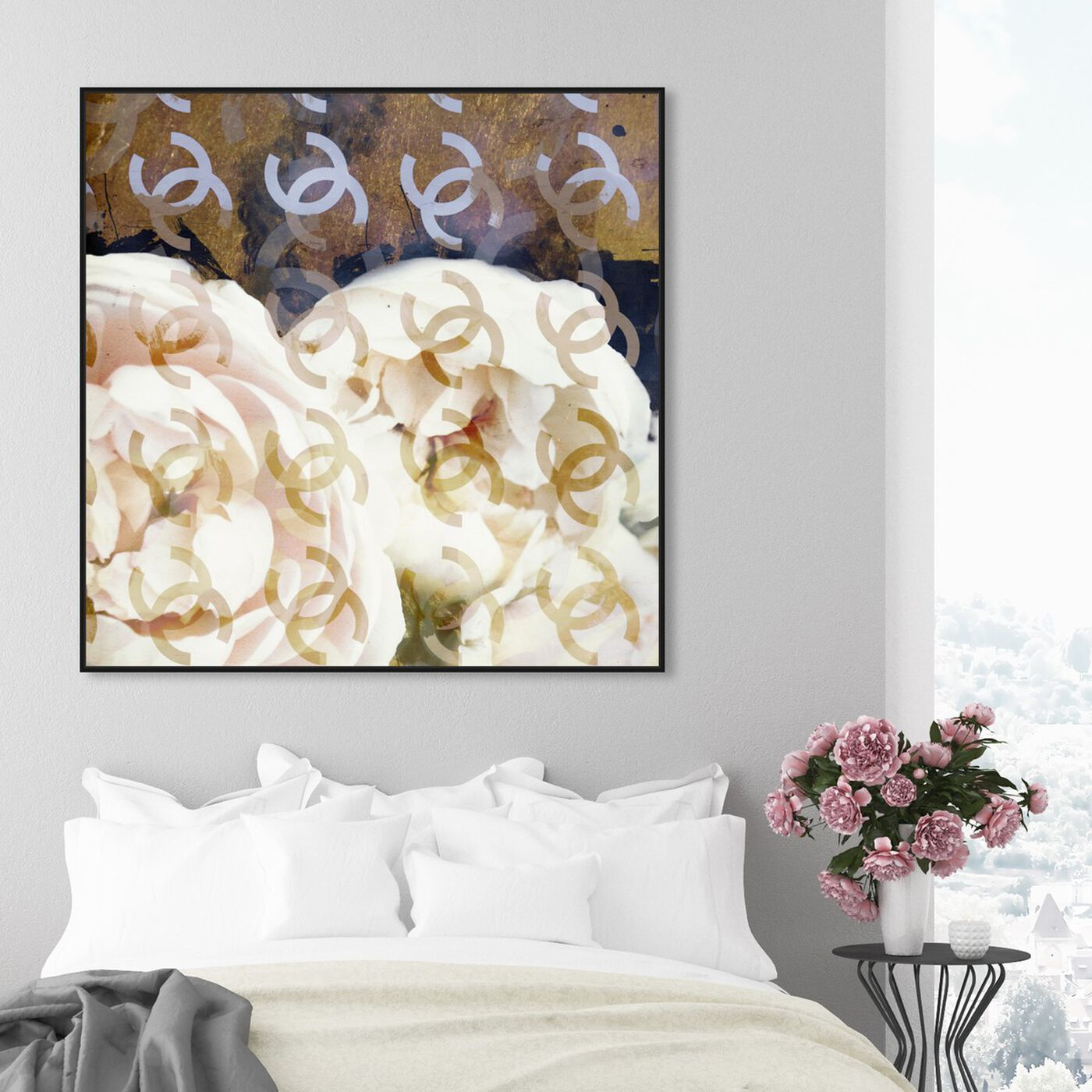 Hanging view of Fashions Flowers Vanilla featuring fashion and glam and fashion art.