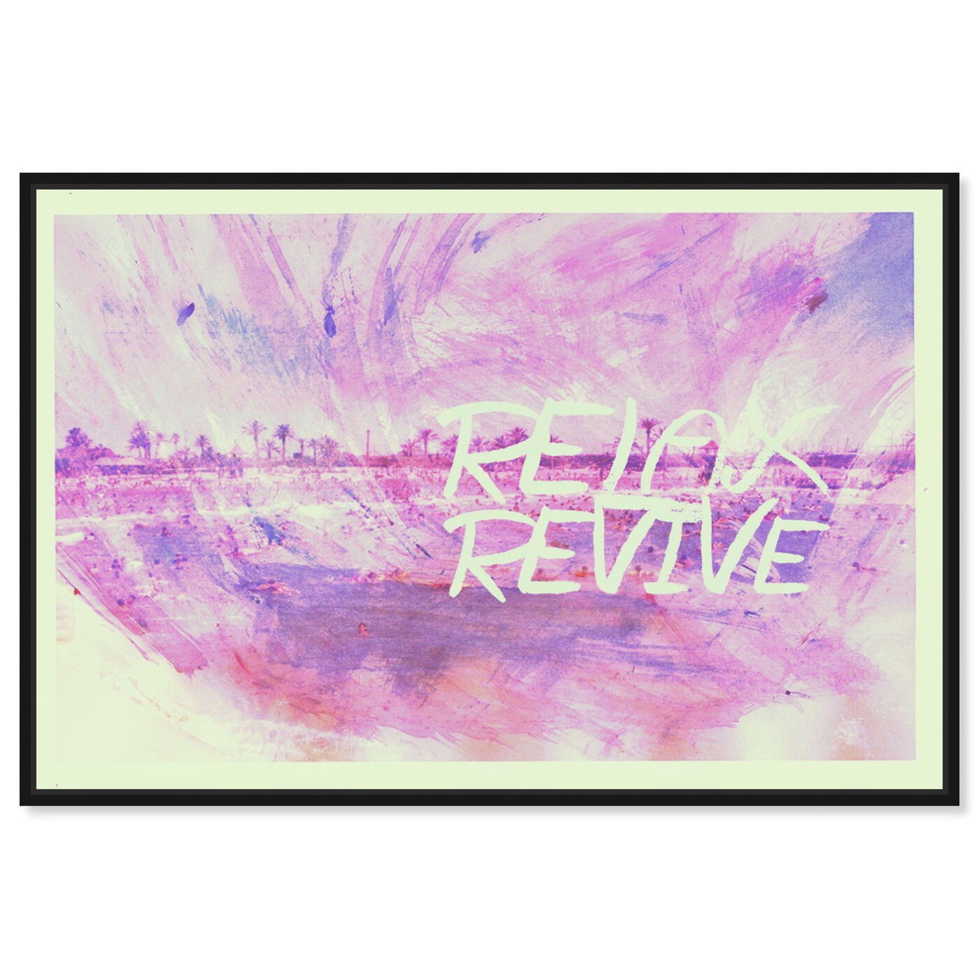 Front view of Revive featuring typography and quotes and quotes and sayings art.