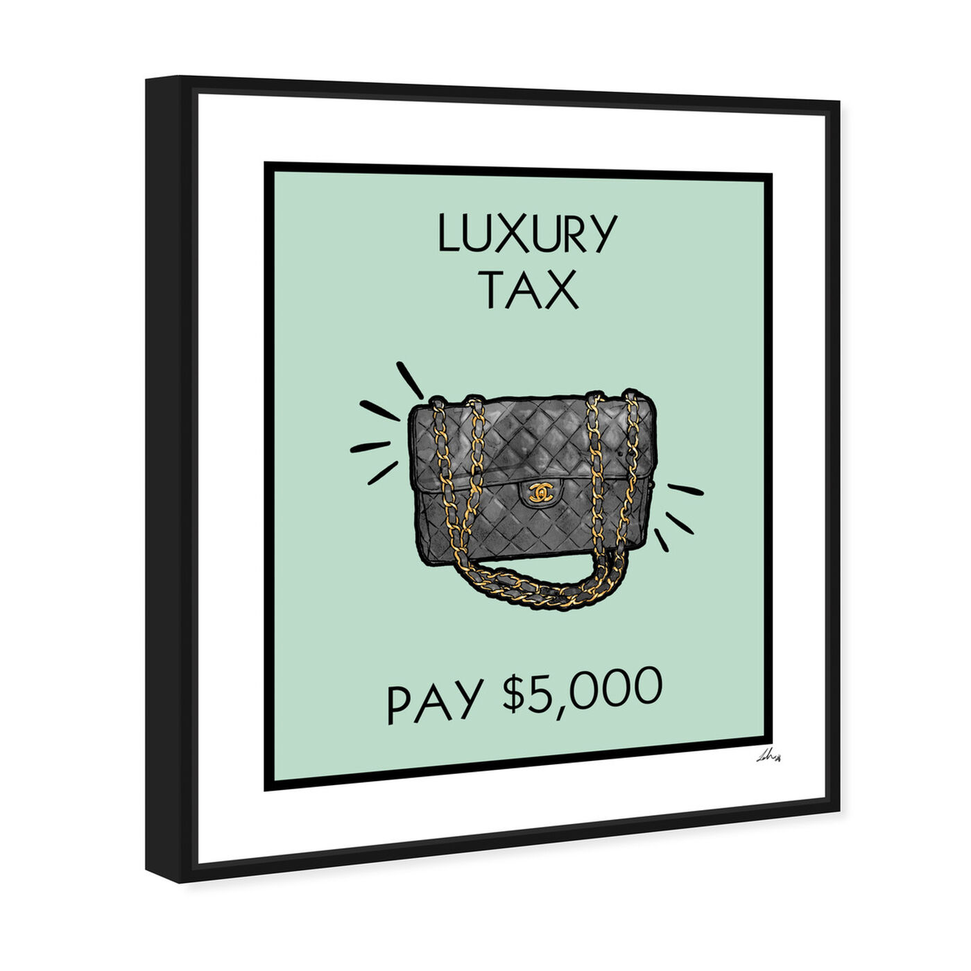 Angled view of Luxury Tax Coco featuring fashion and glam and handbags art.