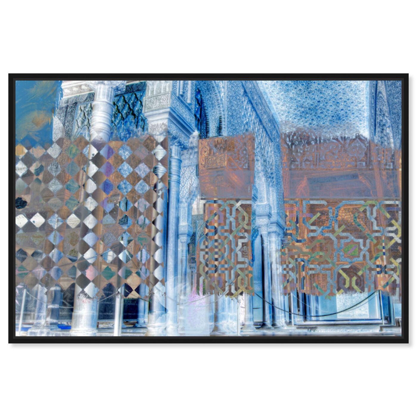 Front view of Alhambra featuring abstract and textures art.