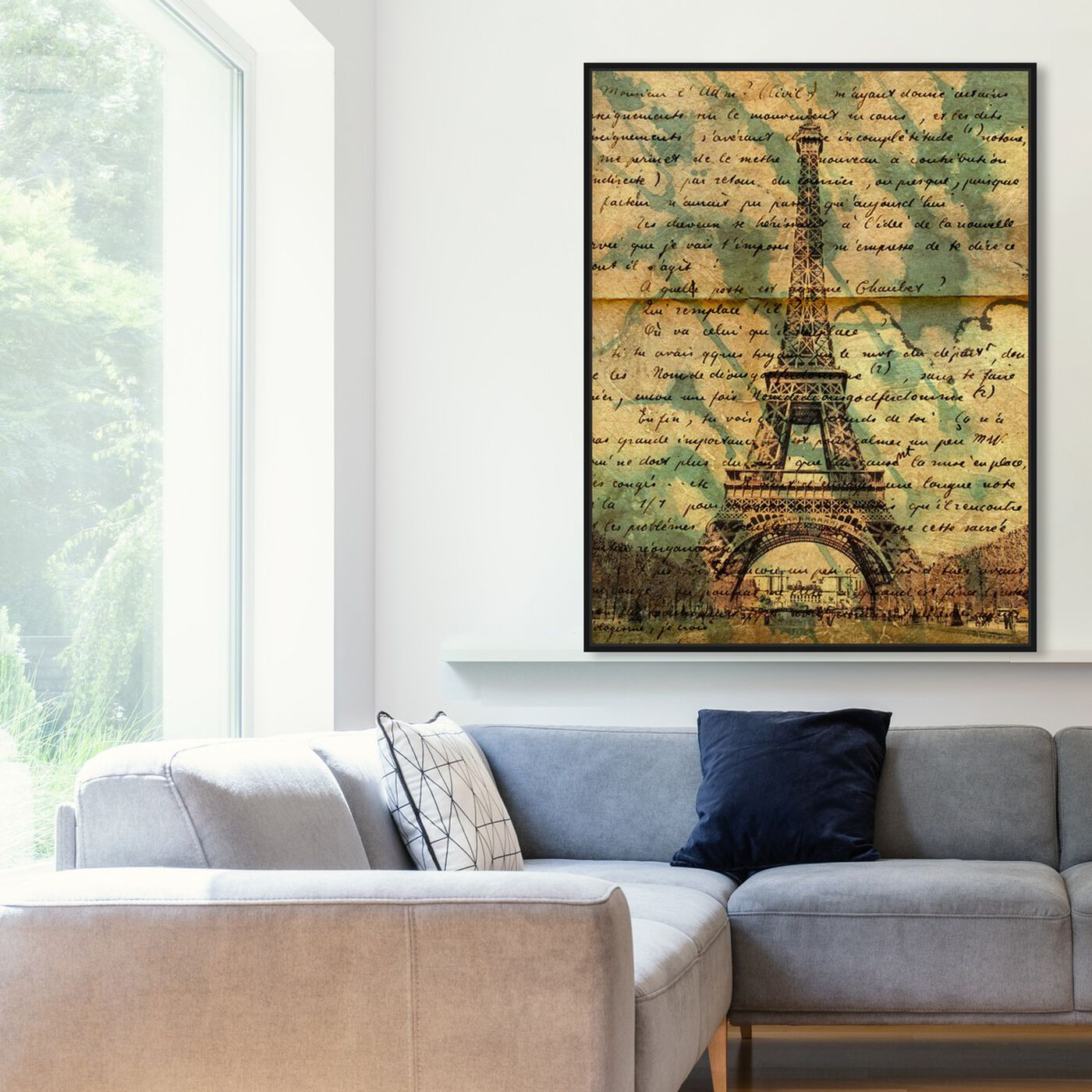 Hanging view of Eiffel Words featuring architecture and buildings and european buildings art.