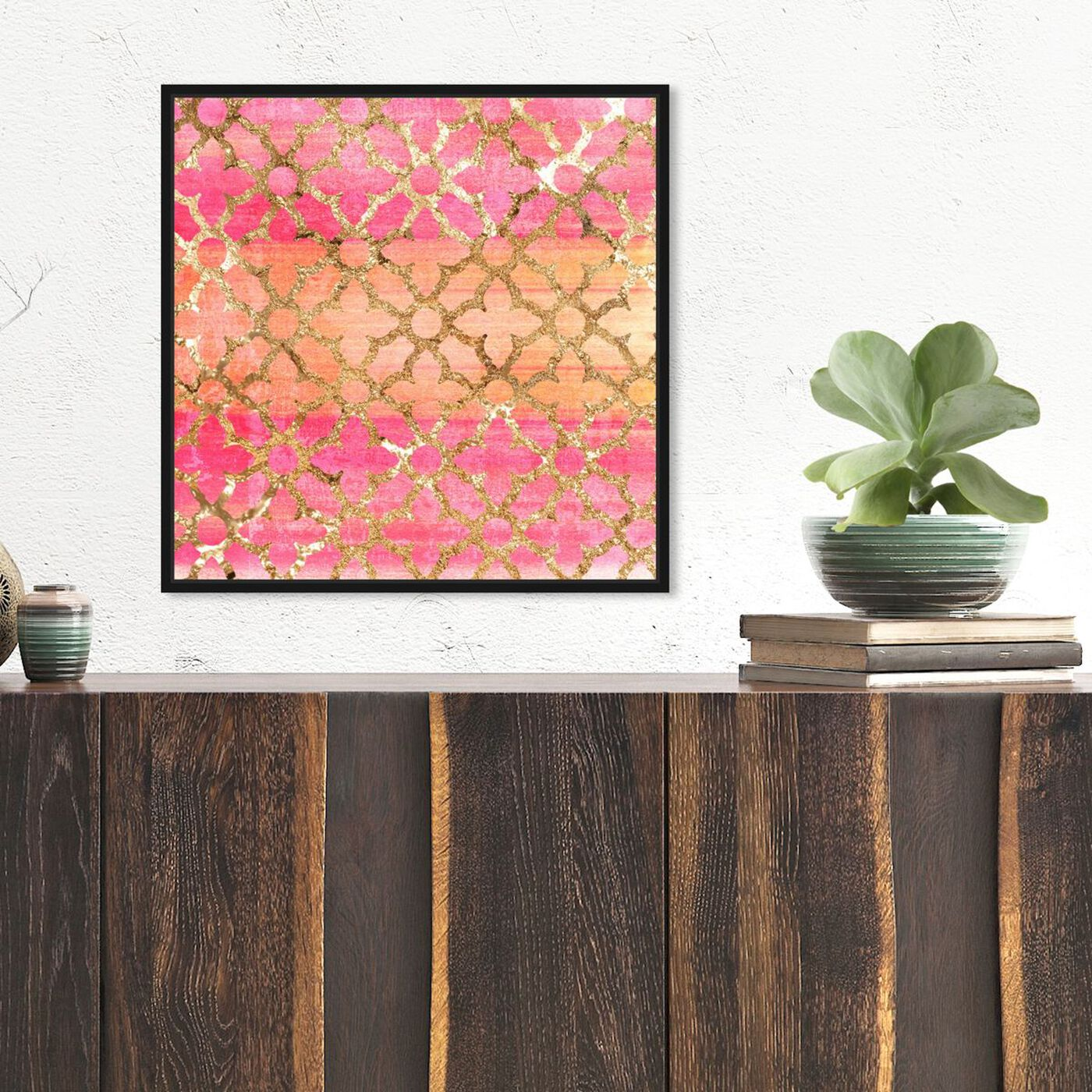 Hanging view of Pretty Arabesque featuring abstract and patterns art.