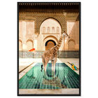 Front view of Animal Bath featuring animals and zoo and wild animals art. image number null