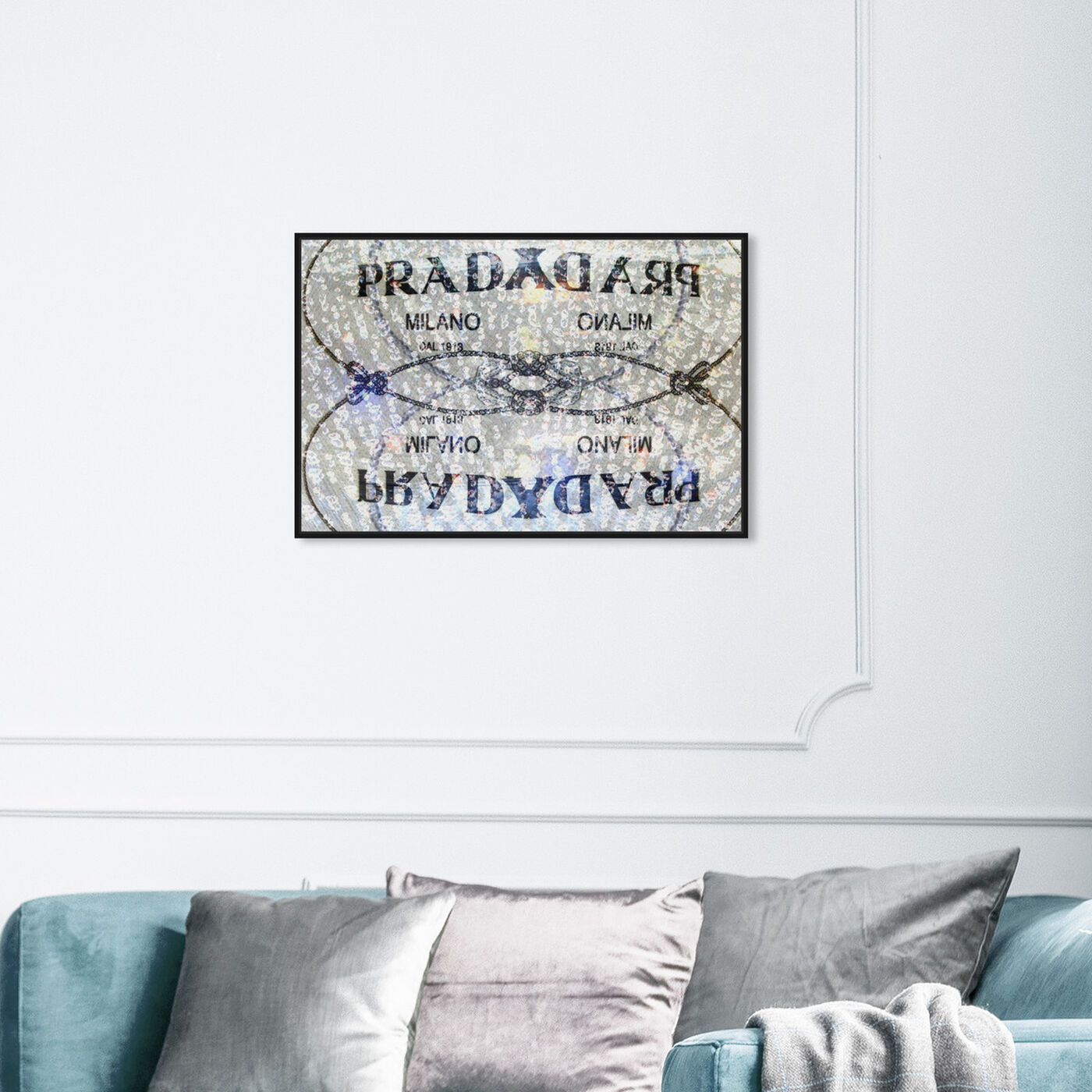 Hanging view of Seraphina featuring fashion and glam and road signs art.