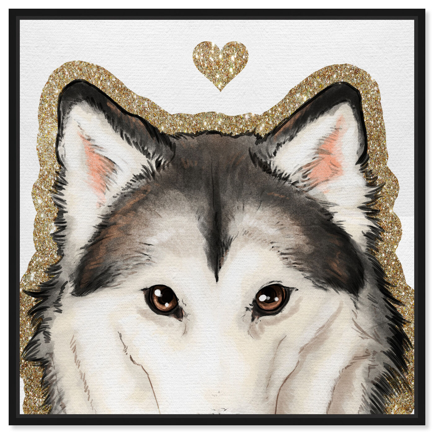 Front view of Husky Eyes featuring fashion and glam and hearts art.