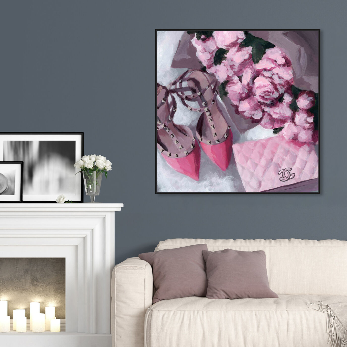 Hanging view of All Things Pink featuring fashion and glam and handbags art.