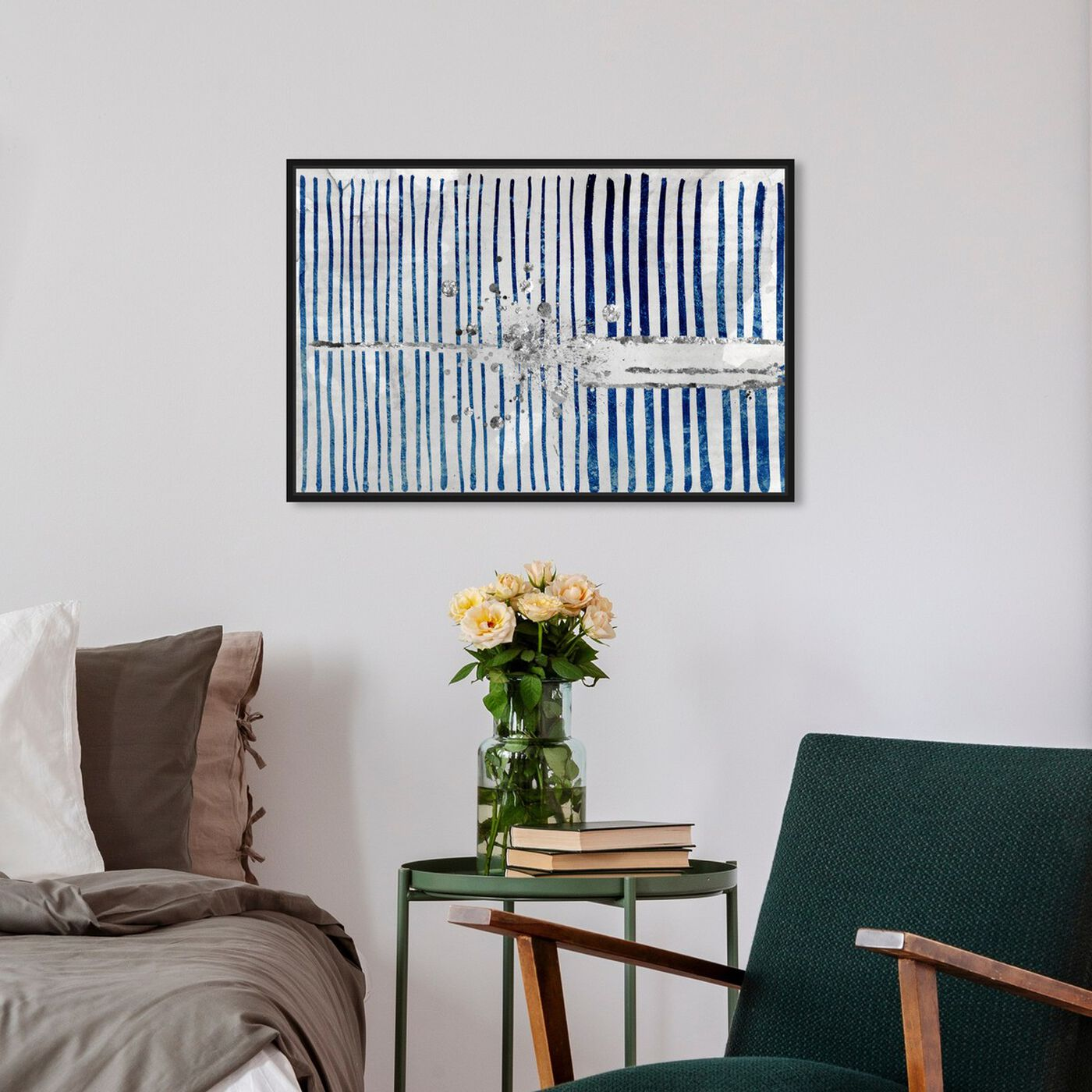 Hanging view of Love Force Field Platinum featuring abstract and patterns art.