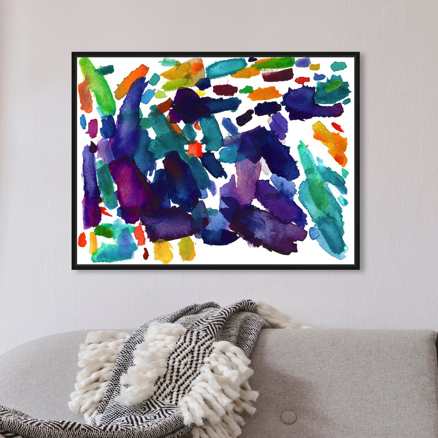 Hanging view of Maja Wronska - Color Palette Flow III featuring abstract and paint art.
