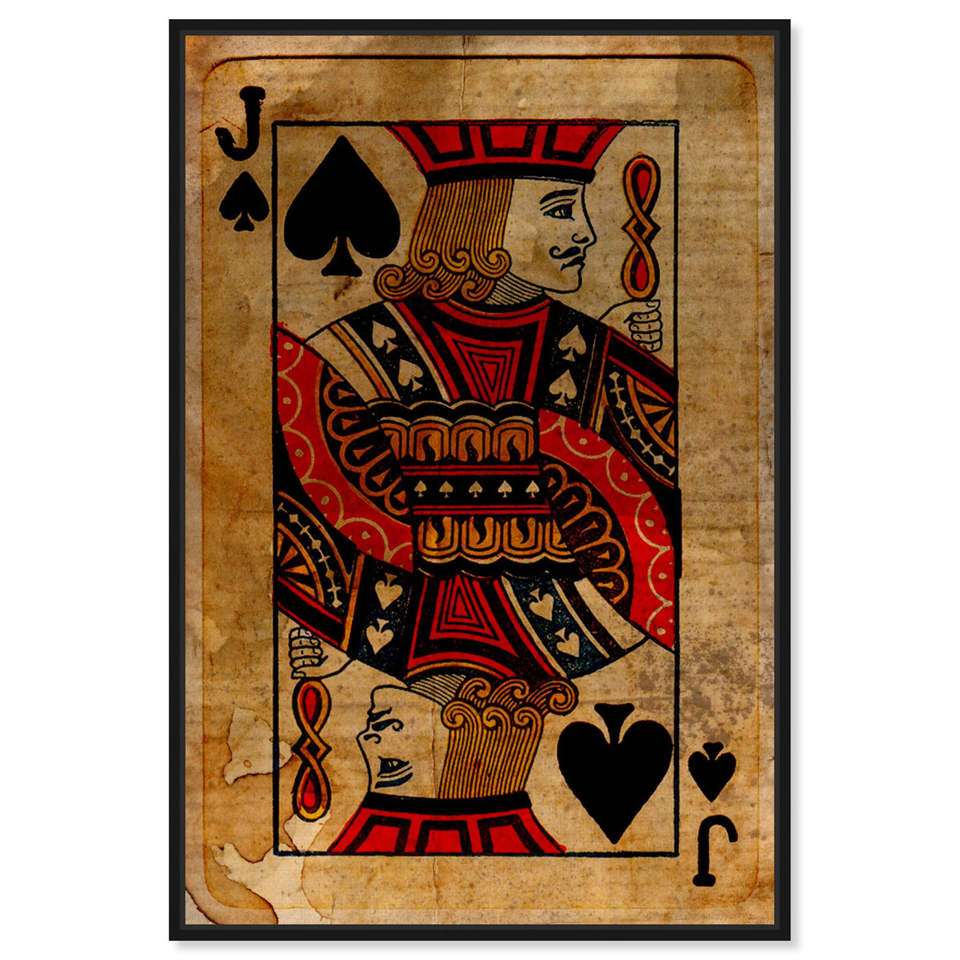 Front view of Jack of Spades featuring entertainment and hobbies and playing cards art.