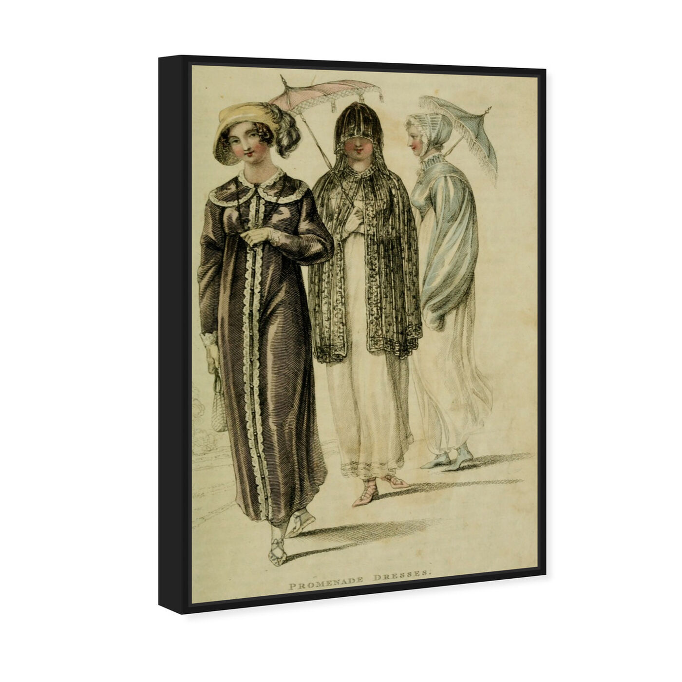 Angled view of Promenade Dresses - The Art Cabinet featuring classic and figurative and realism art.