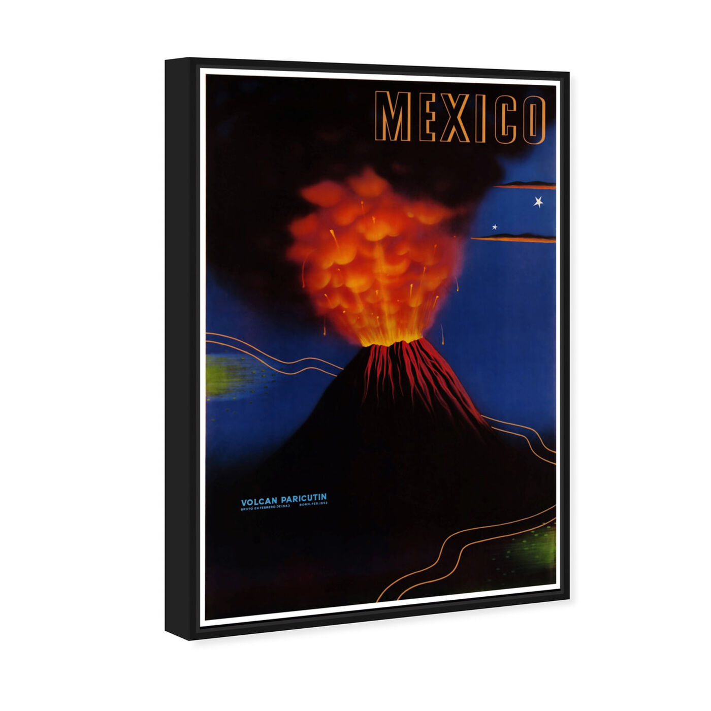 Angled view of Mexico Volcan featuring world and countries and american countries art.