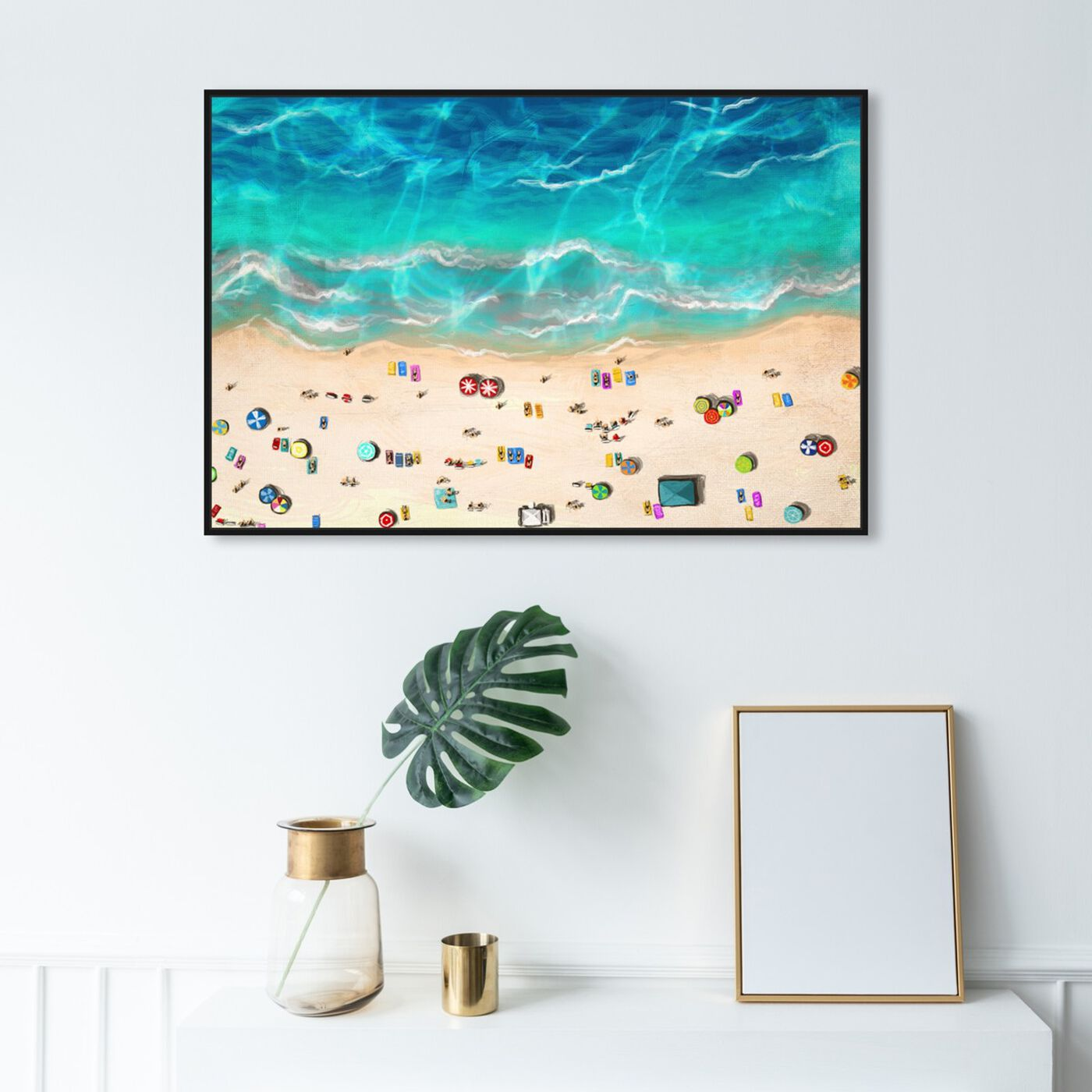 Hanging view of A Day At the Beach featuring nautical and coastal and coastal art.