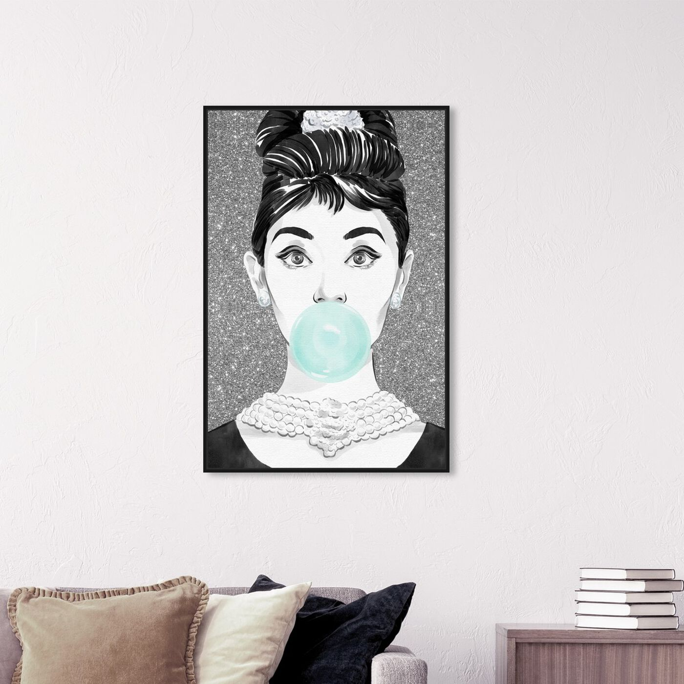 Hanging view of Bubblegum Star featuring people and portraits and celebrities art.