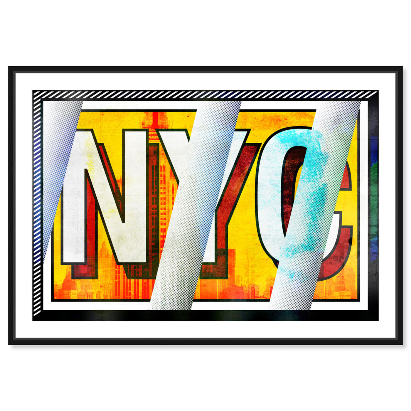 Front view of N-Y-C featuring advertising and comics art.