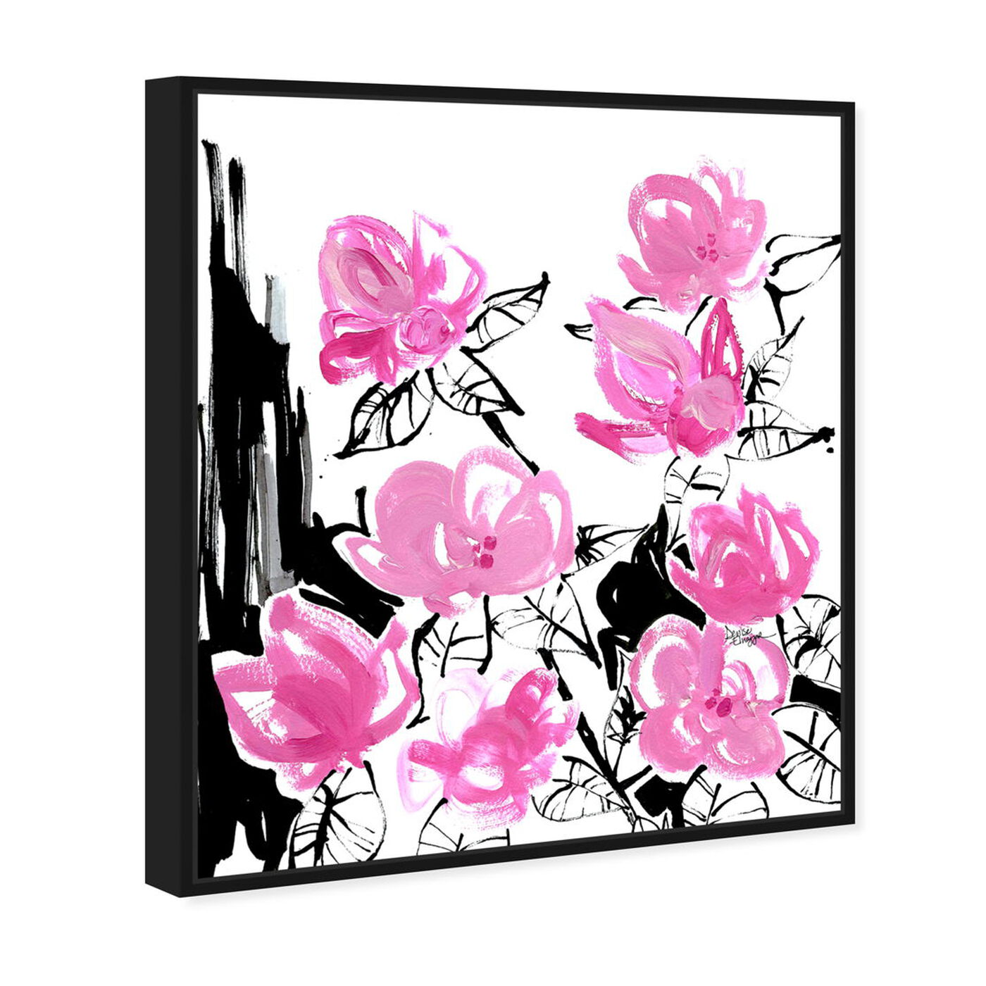 Angled view of Denise Elnajjar - The Blooms featuring floral and botanical and florals art.