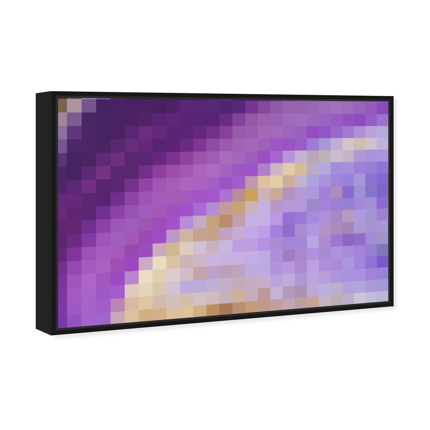 Angled view of Make Me Violet featuring abstract and crystals art.