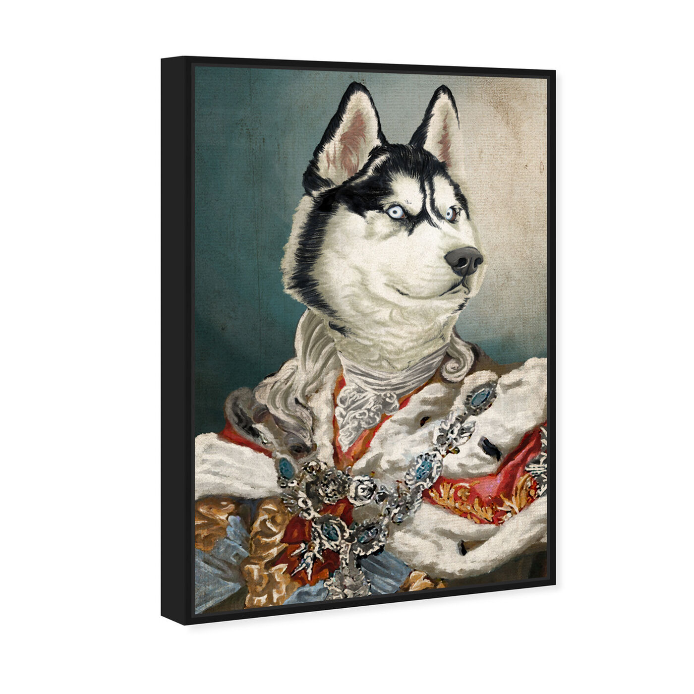 Angled view of Royal Husky featuring animals and dogs and puppies art.