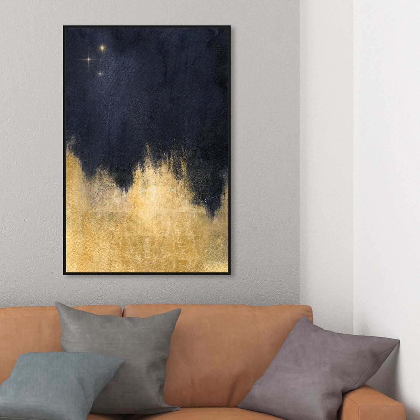 Hanging view of Stars in the Night featuring abstract and paint art.