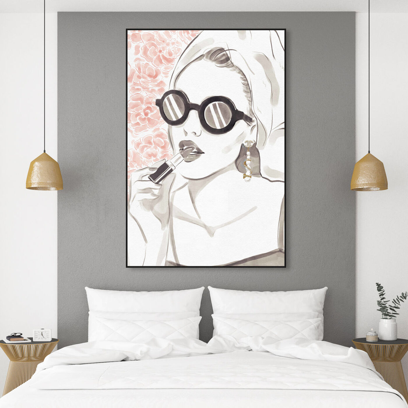 Hanging view of Sunglasses Bomb Beauty featuring fashion and glam and portraits art.