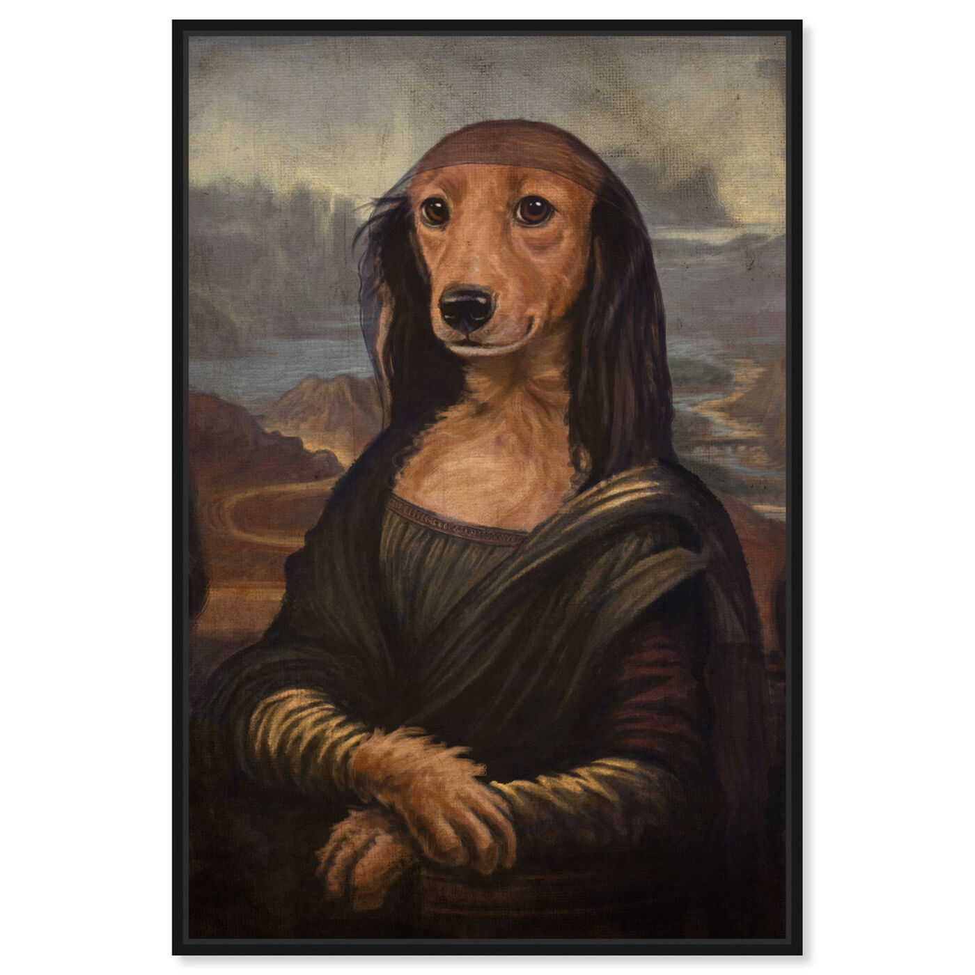 Front view of Mutt-a-Lisa By Carson Kressley featuring animals and dogs and puppies art.