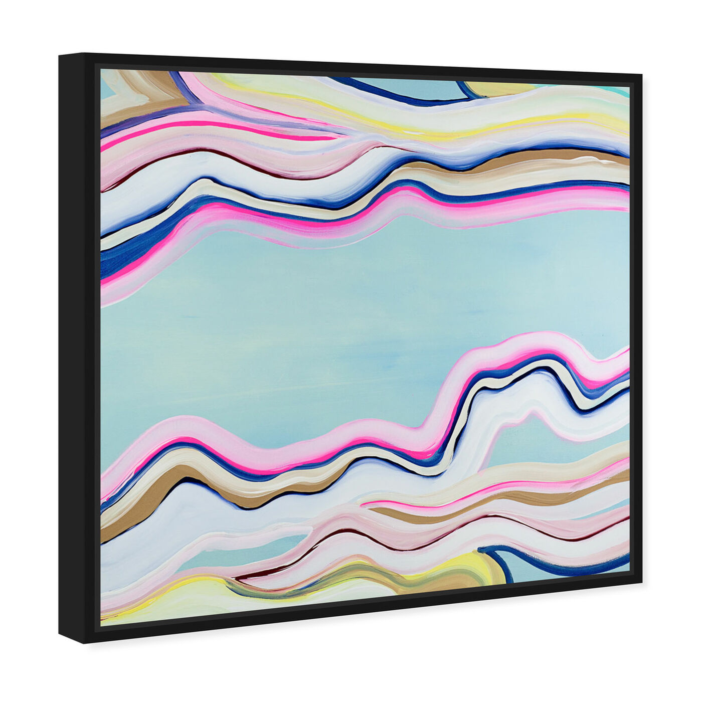 Angled view of Flow  featuring abstract and paint art.
