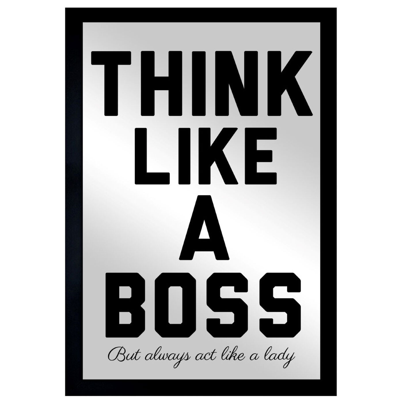 Front view of Like A Boss featuring typography and quotes and motivational quotes and sayings art.
