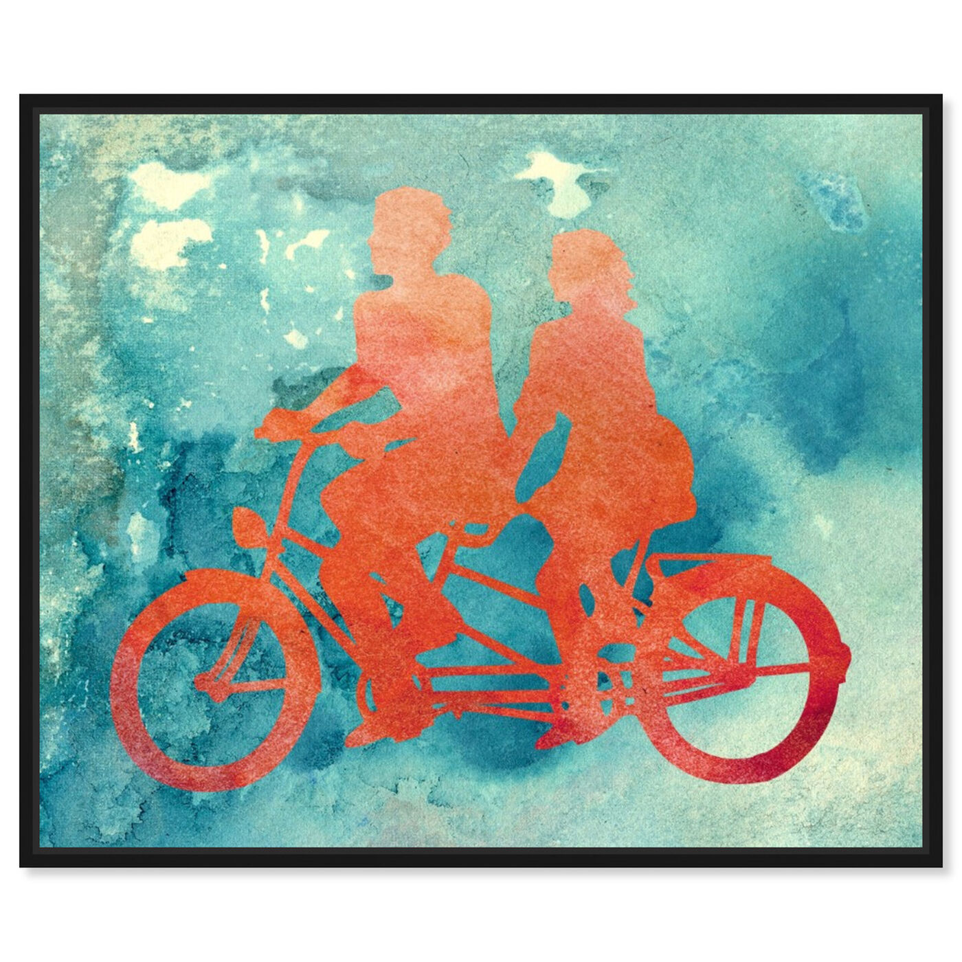Front view of La Bicyclette featuring transportation and bicycles art.