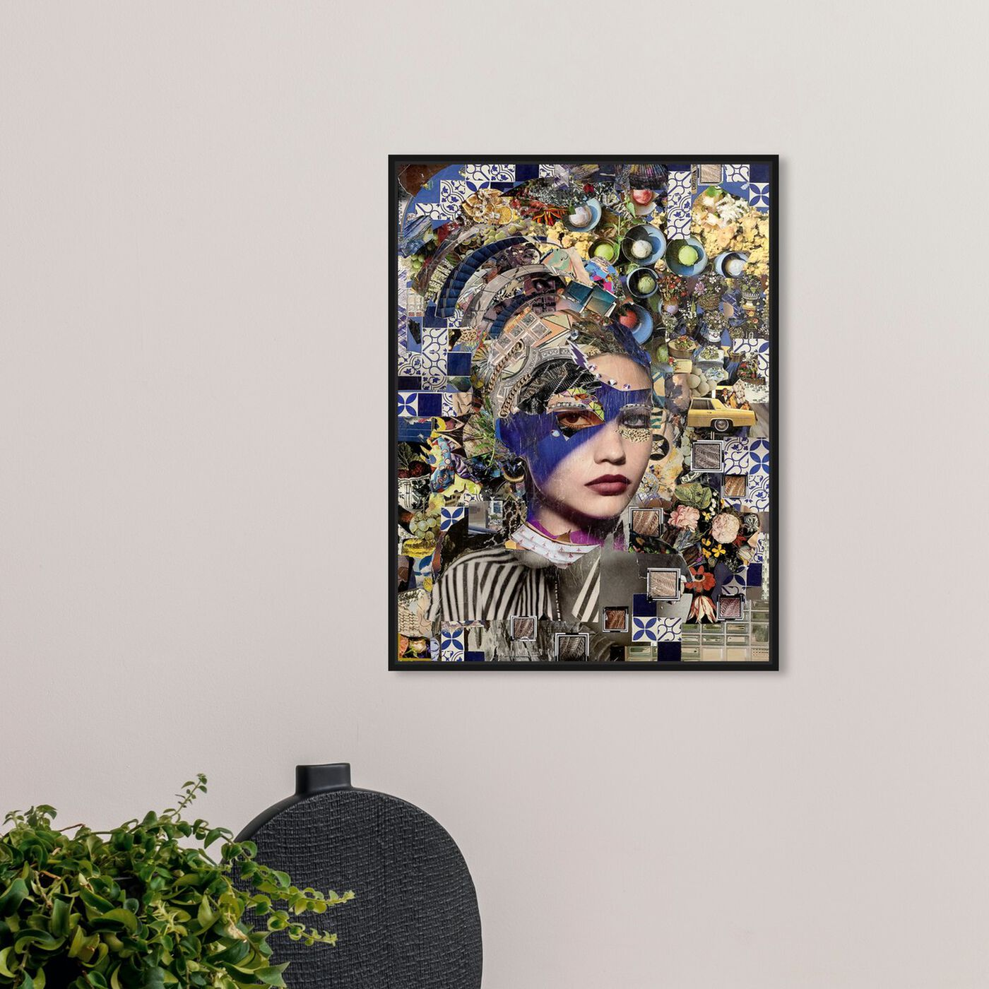 Hanging view of Katy Hirschfeld - Beauty in Blue featuring fashion and glam and portraits art.