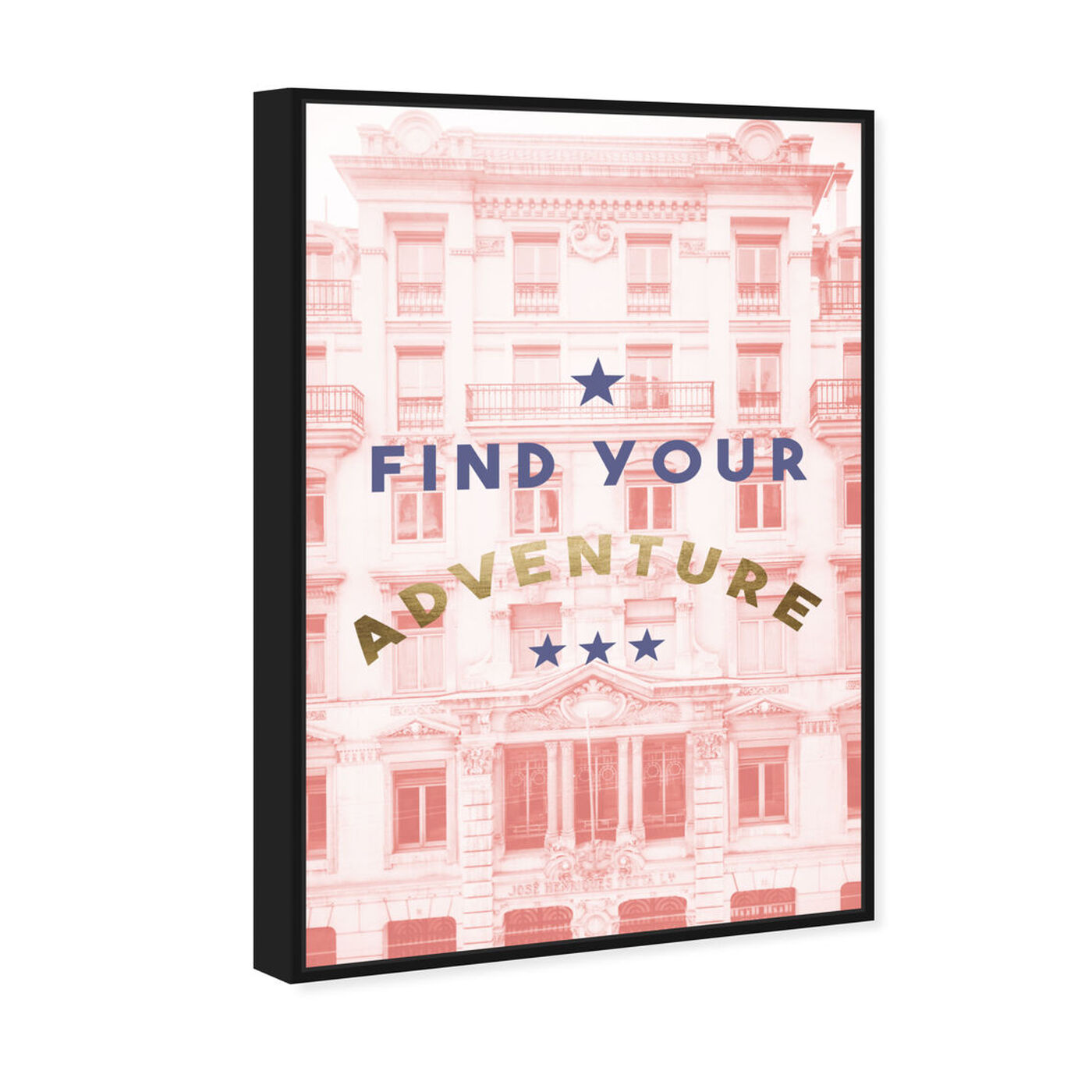 Angled view of Find Your Adventure Blush featuring typography and quotes and motivational quotes and sayings art.