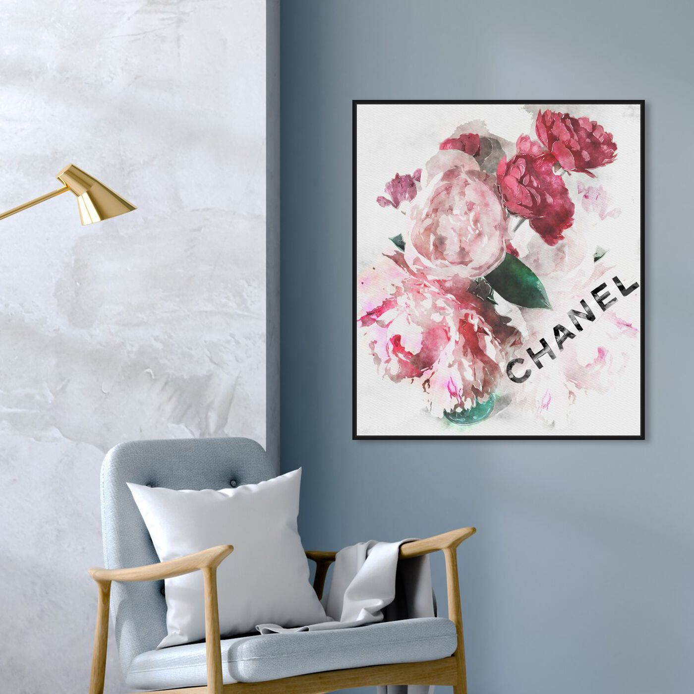 Hanging view of French Peony Vase featuring fashion and glam and fashion lifestyle art.