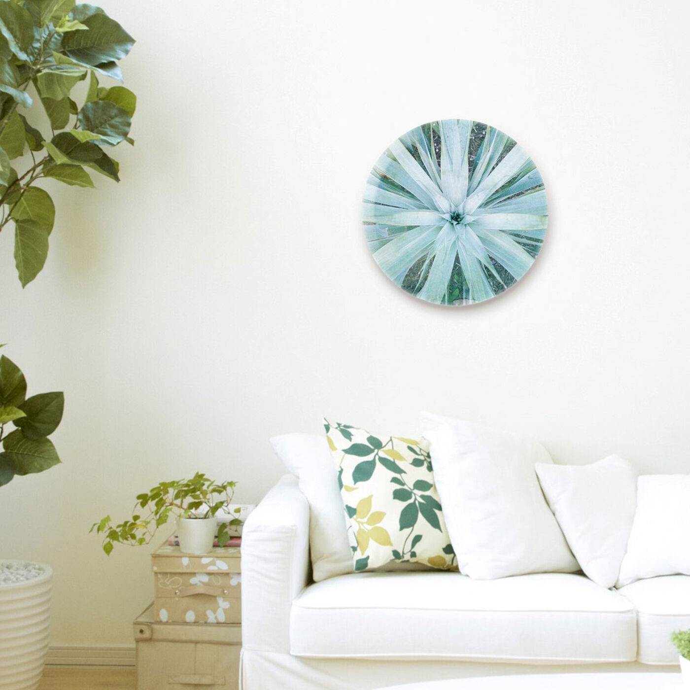 Hanging view of Plant Flower Round featuring floral and botanical and botanicals art.