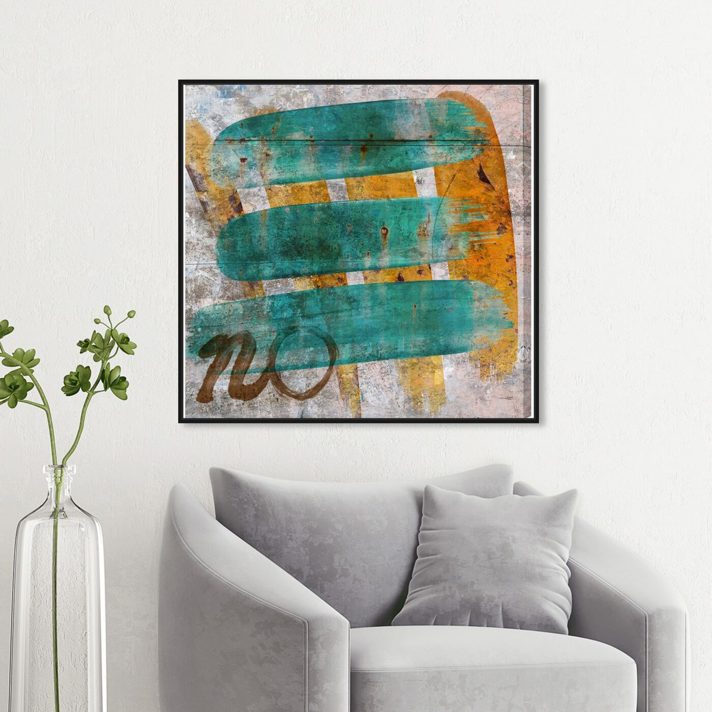 Hanging view of Fields of America featuring abstract and paint art.