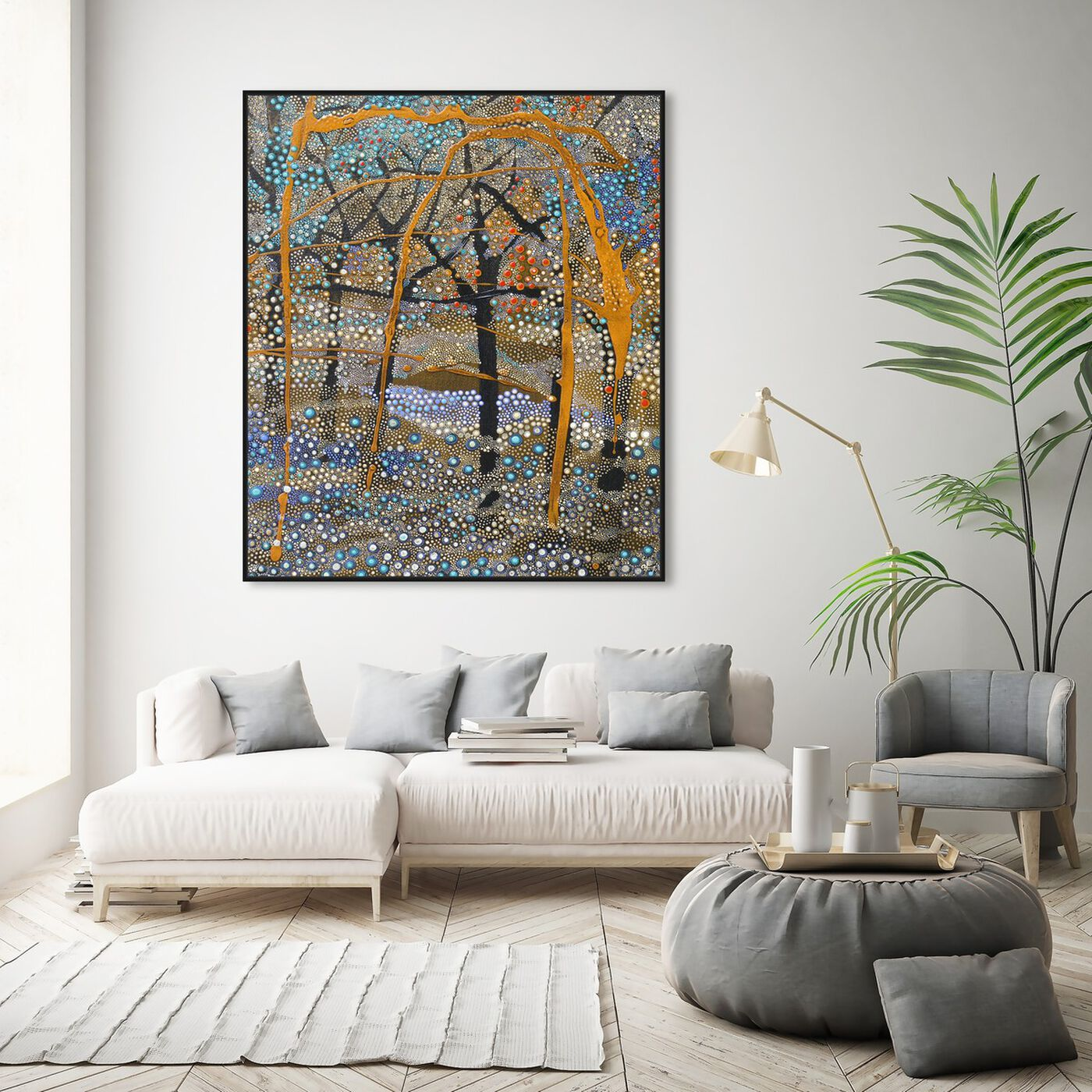 Hanging view of Enriqueta Ahrensburg - Otoño featuring classic and figurative and expressionism art.