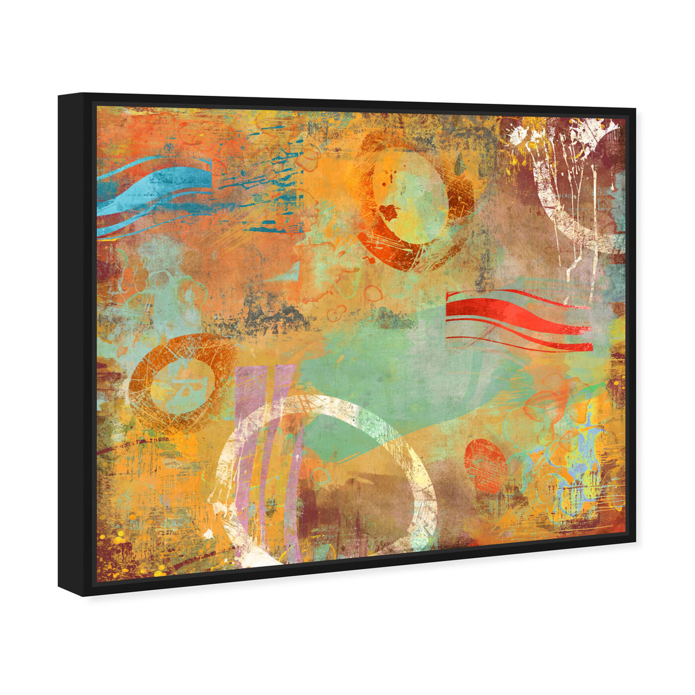 Angled view of SAI - Abstract Postcard featuring abstract and paint art.