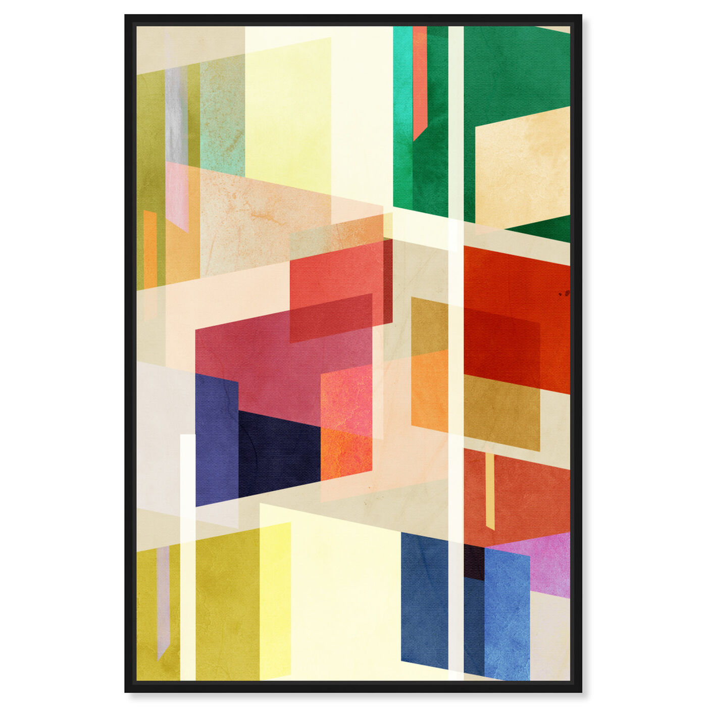 Front view of Midcentury Square Abstract featuring abstract and geometric art.