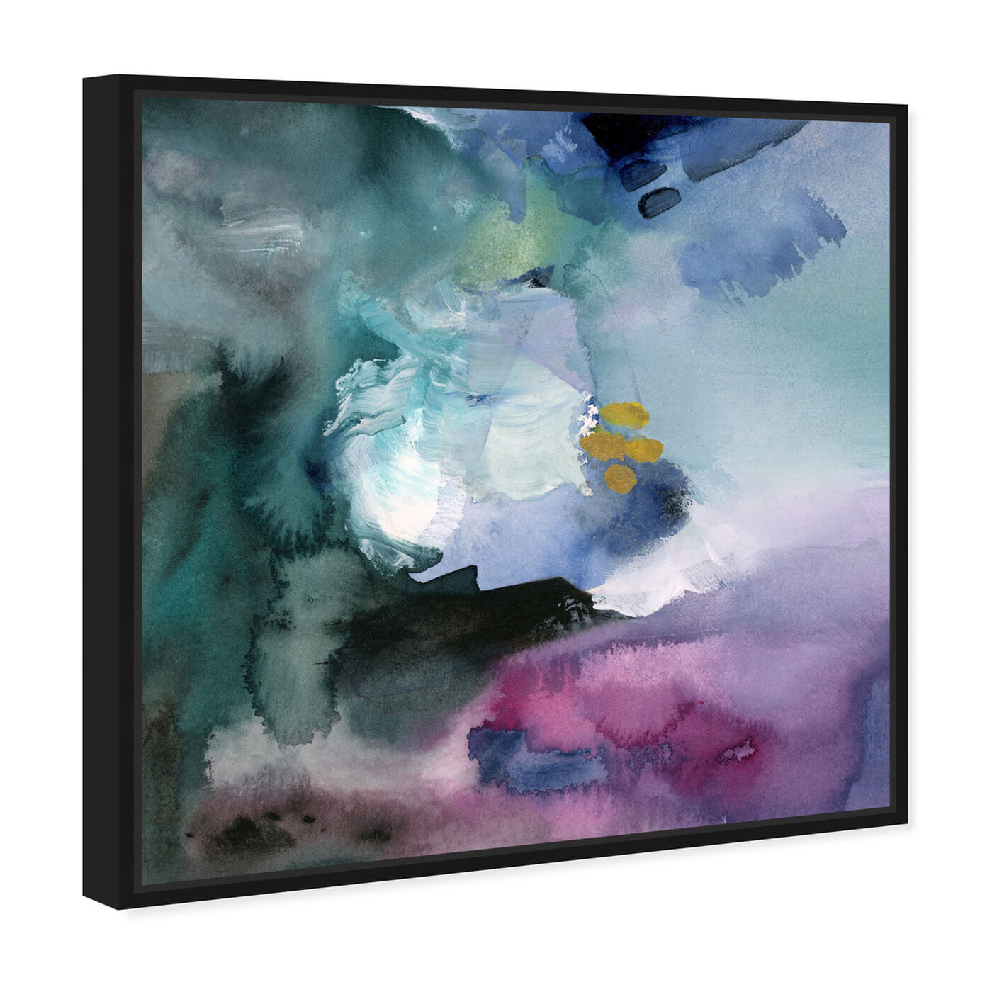 Angled view of Nebulosa Abstract featuring abstract and watercolor art.