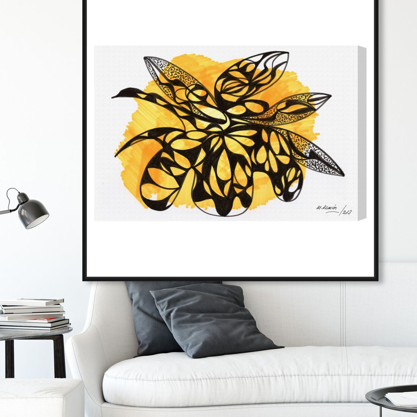 Hanging view of Beehive featuring abstract and shapes art.