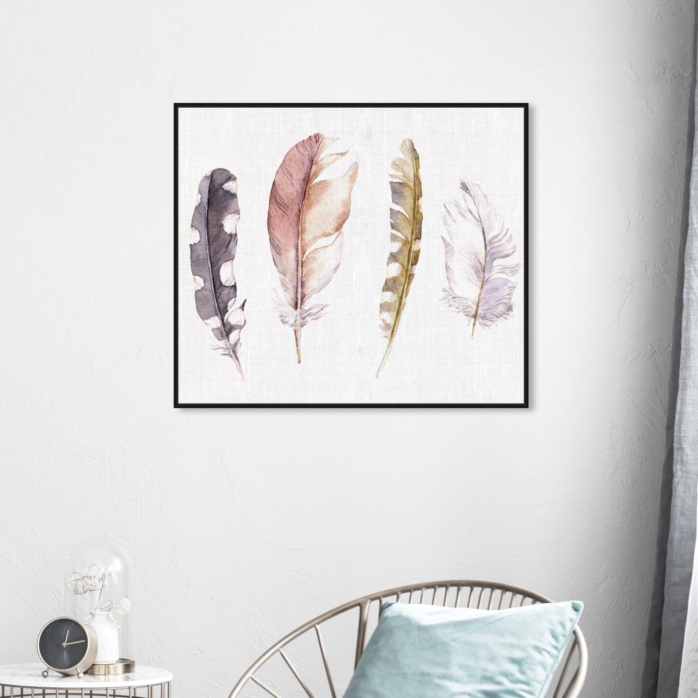 Hanging view of Feather Collection Custom featuring fashion and glam and feathers art.