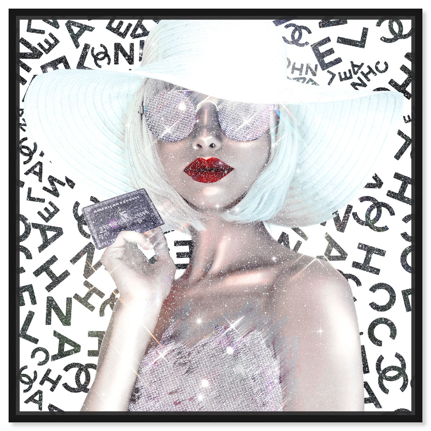 Front view of Black Card is my Business Card featuring fashion and glam and accessories art.