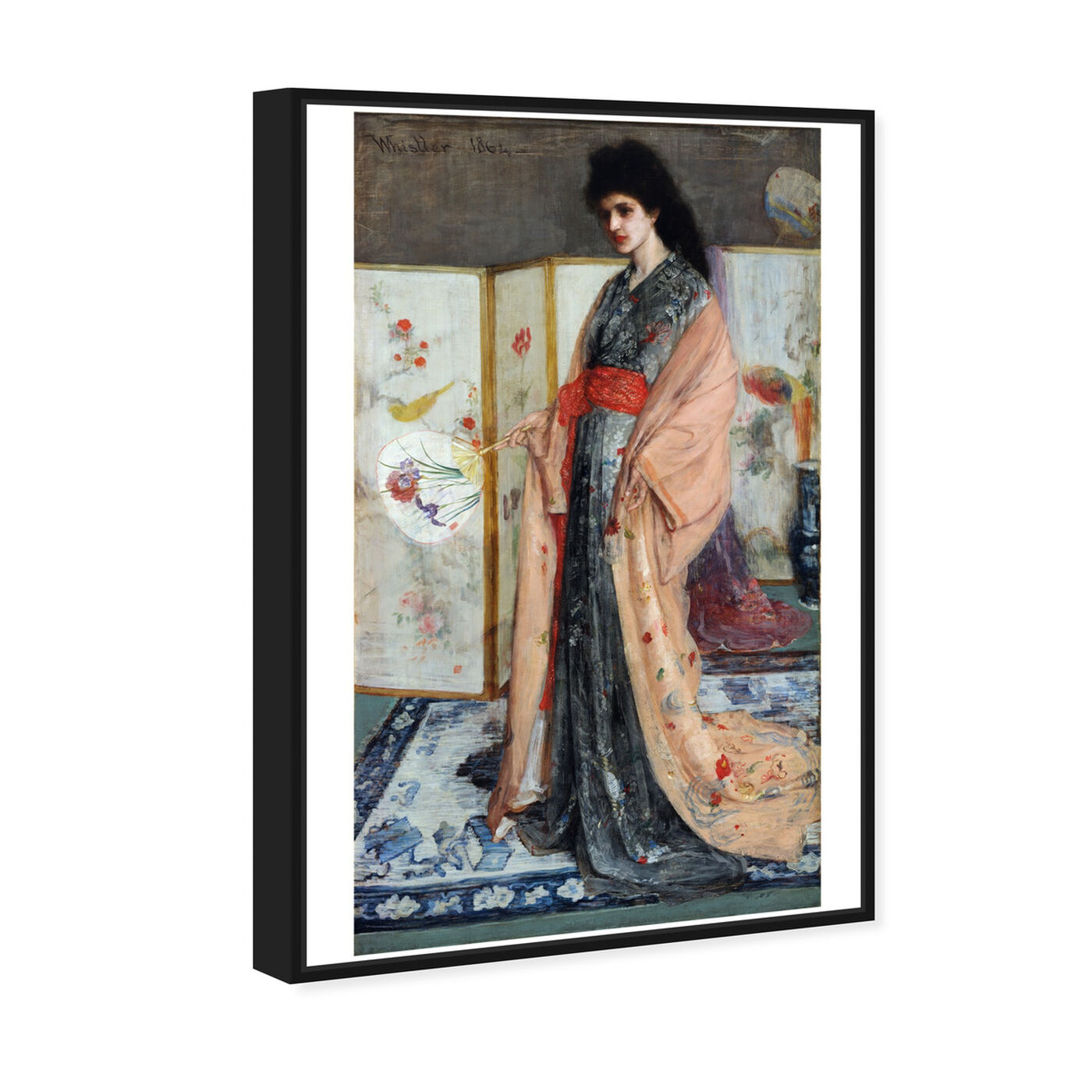 Angled view of Whistler - La Princesse Du Pays De La Porcelaine featuring classic and figurative and classical figures art.