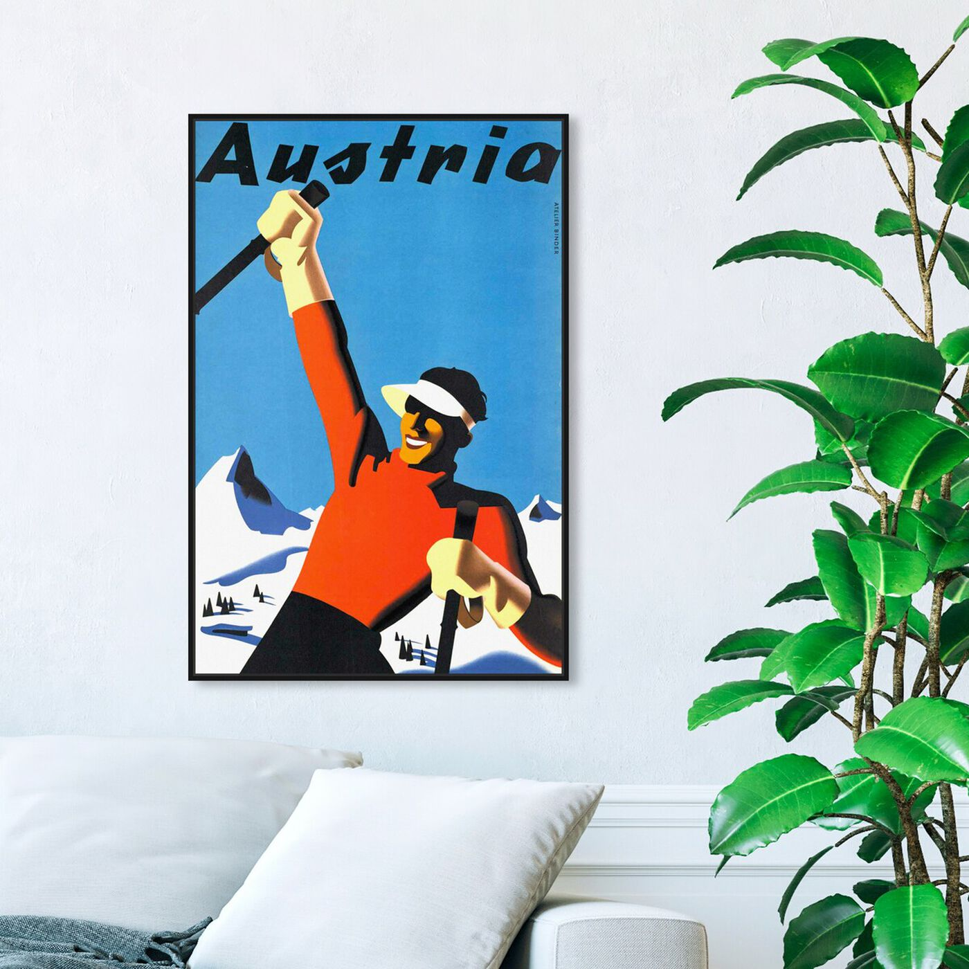 Hanging view of Austria featuring world and countries and european countries art.