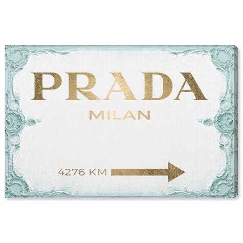 Milan Sign Aqua Gold