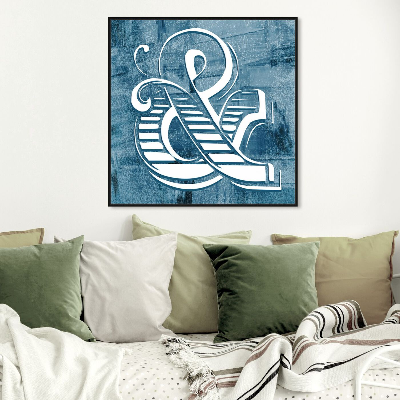 Hanging view of And Now What featuring typography and quotes and signs art.