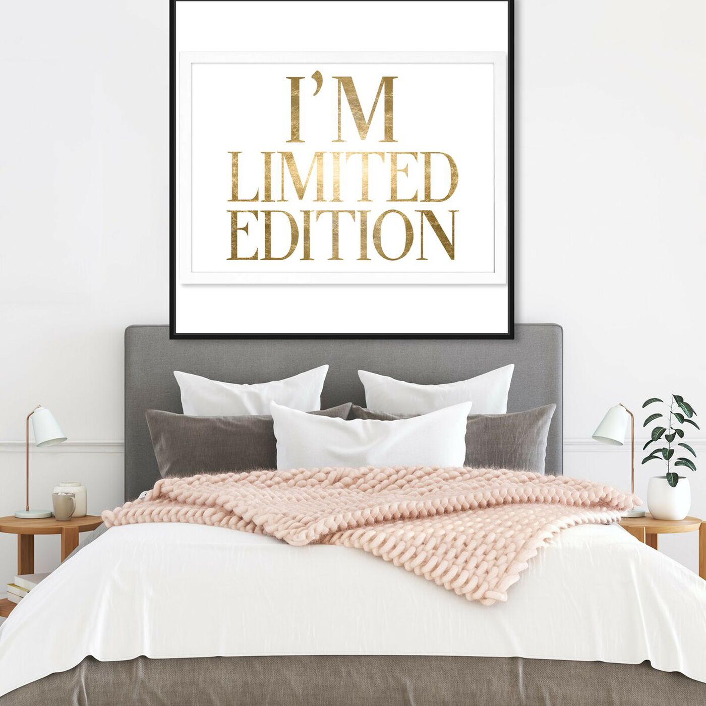 Hanging view of Limited Edition Luxe Gold Foil featuring typography and quotes and beauty quotes and sayings art.
