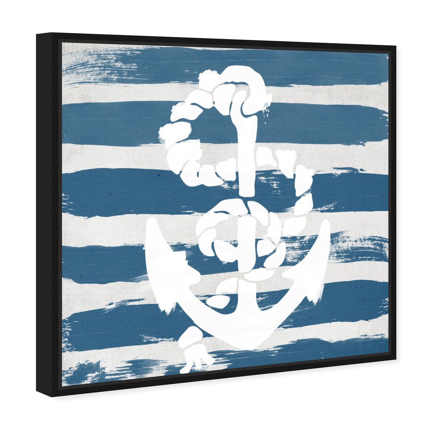 Angled view of Anchored to the Ocean Blue featuring nautical and coastal and nautical watercrafts art.