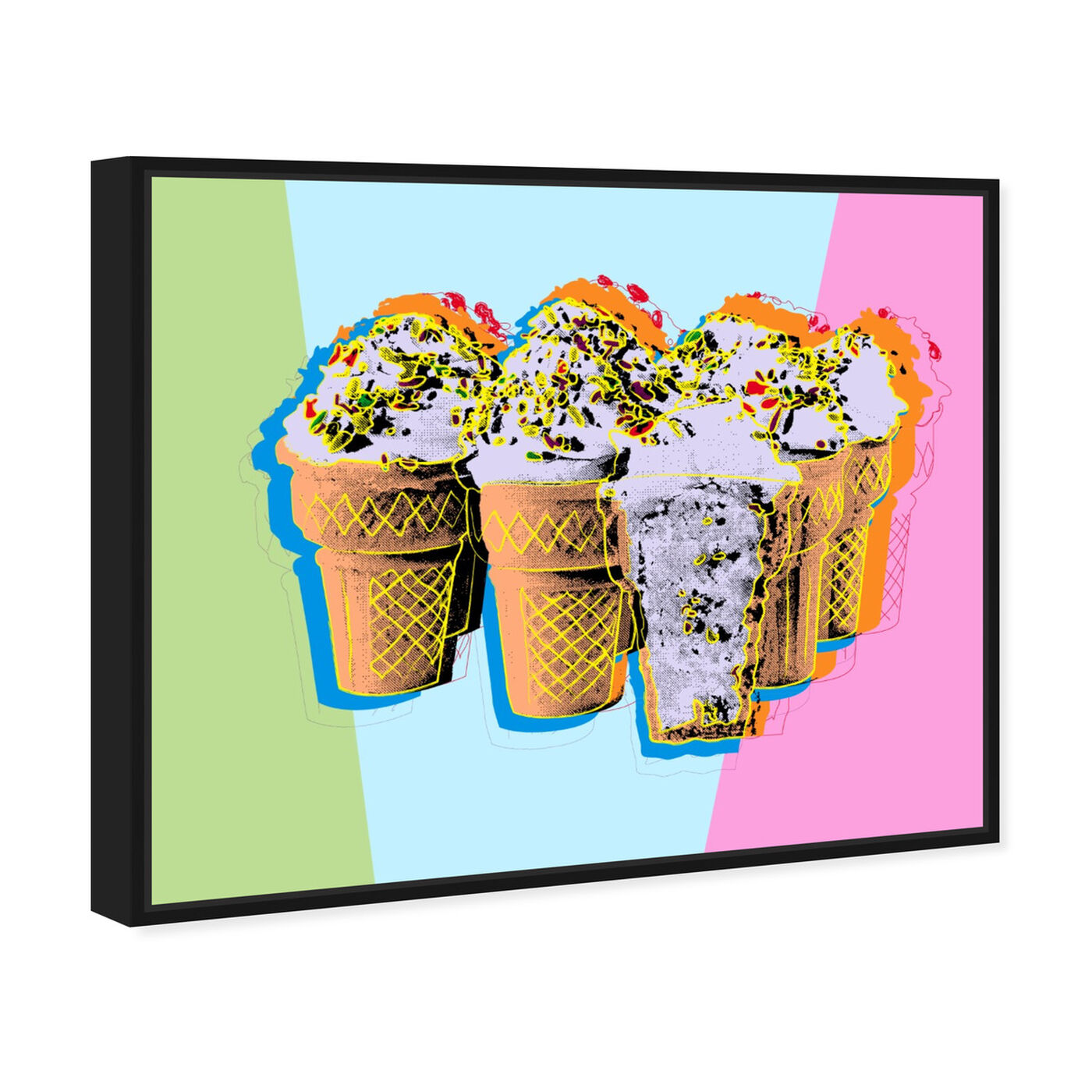 Angled view of Pastel Ice Cream featuring food and cuisine and ice cream and milkshakes art.