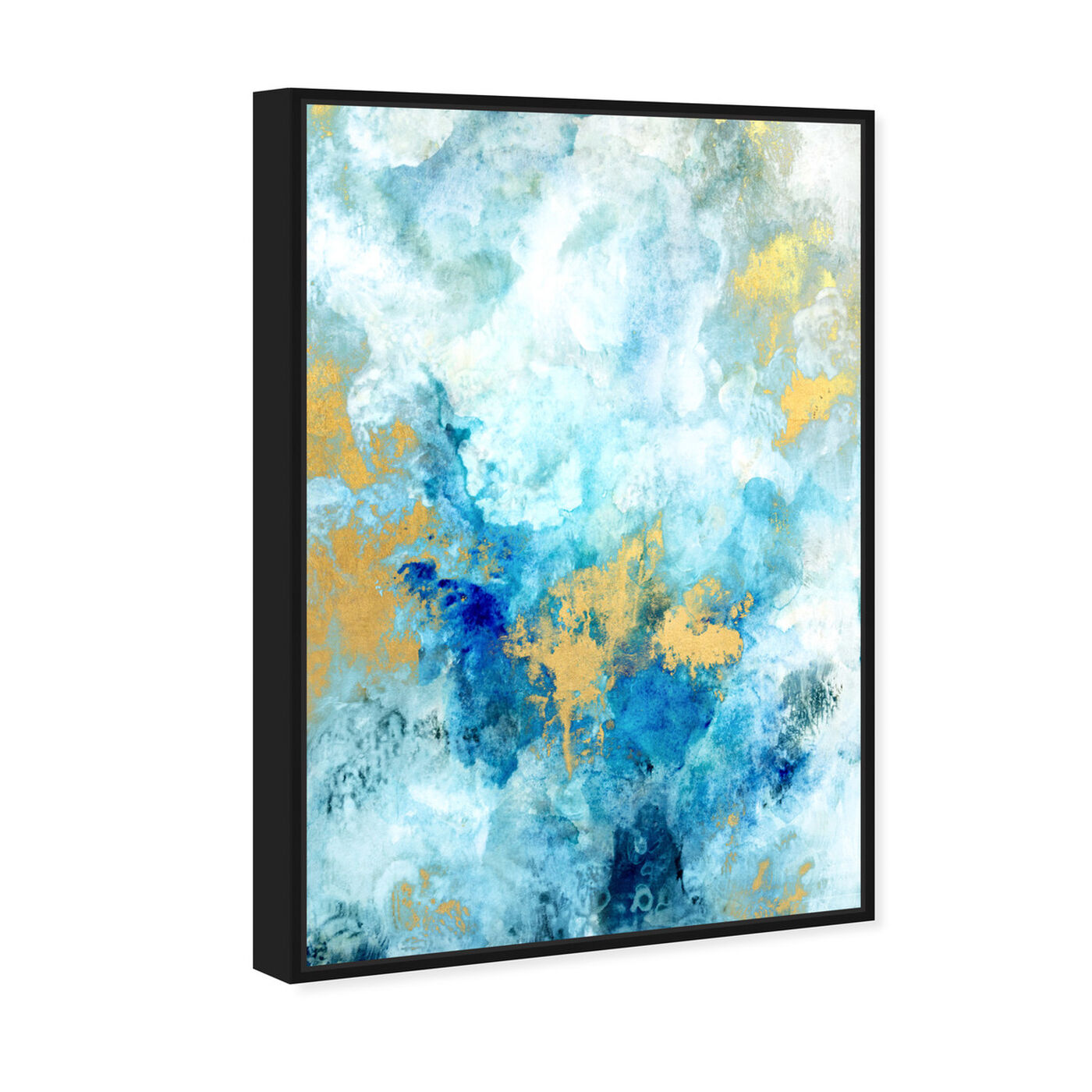 Angled view of Snowy Gold featuring abstract and paint art.