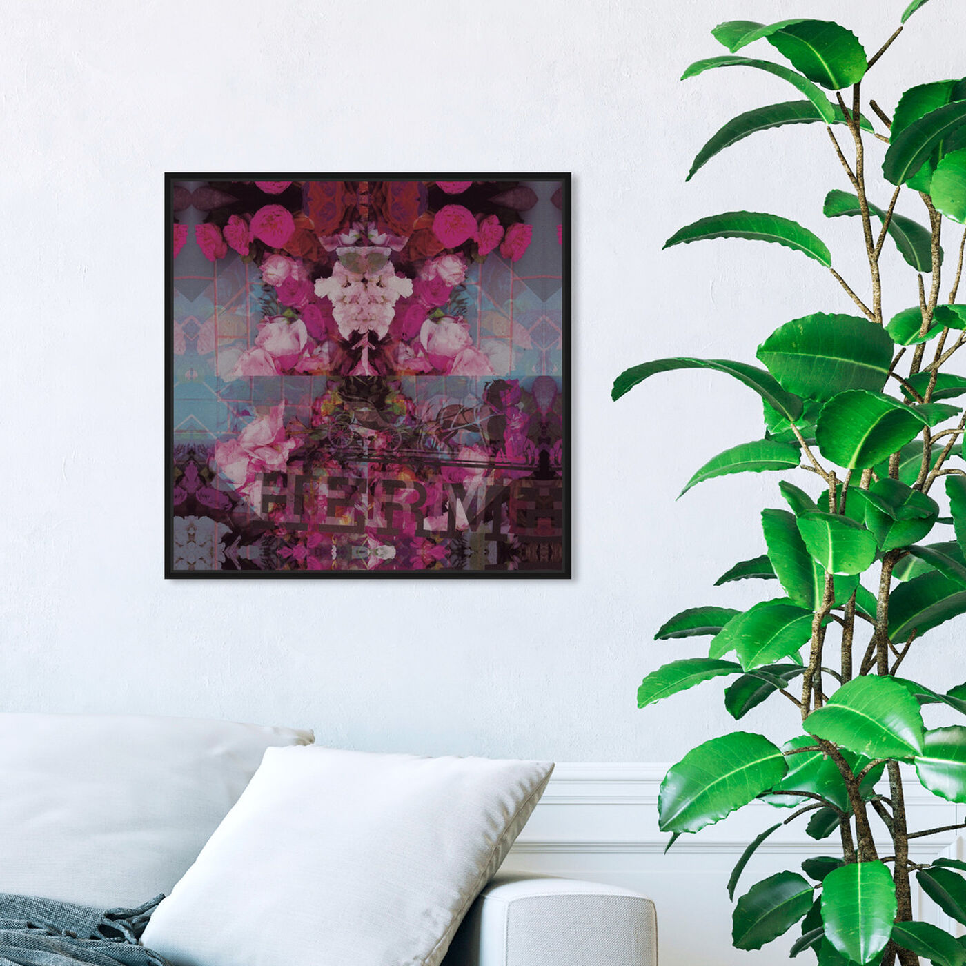 Hanging view of Sublime Illusion featuring floral and botanical and florals art.