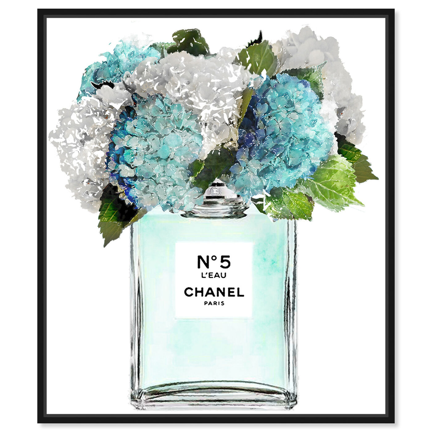 Front view of Bright and Airy Garden Scent Blue featuring fashion and glam and perfumes art.