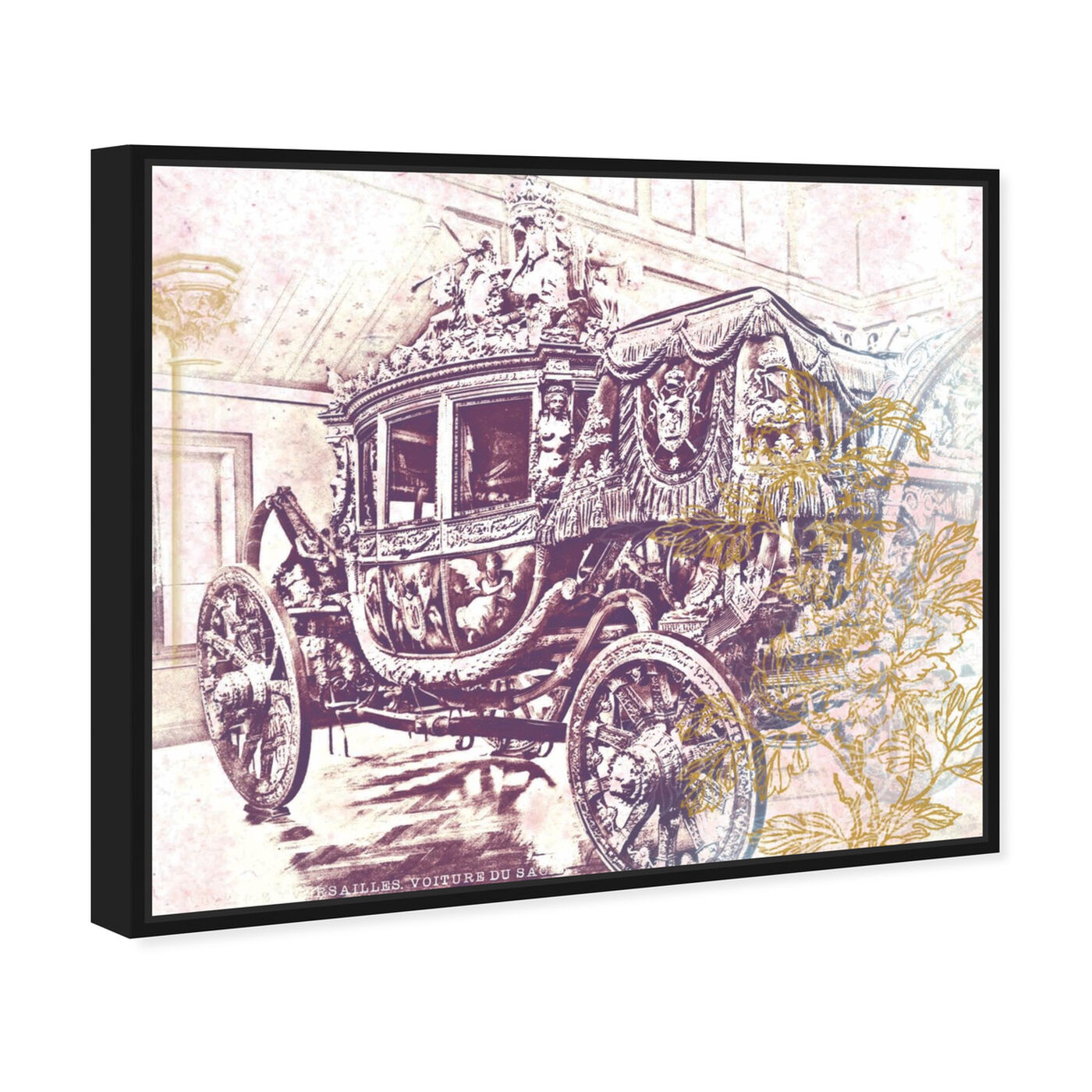 Angled view of Charles X Carriage featuring classic and figurative and classic art.